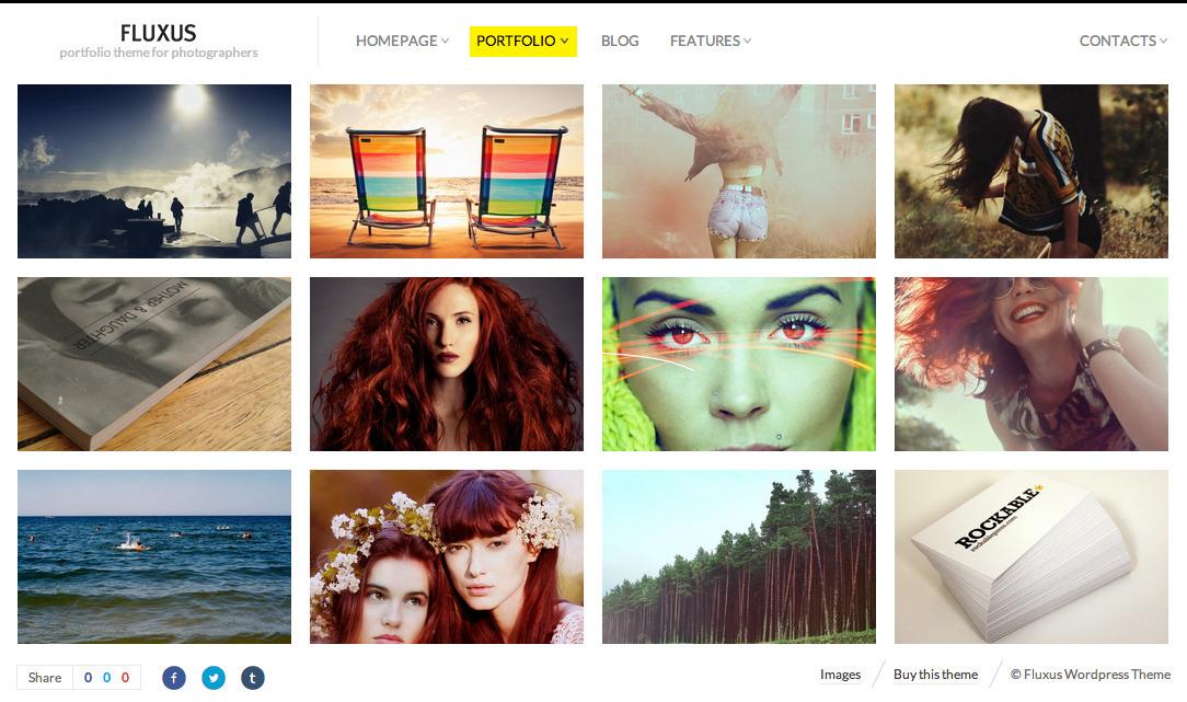 Fluxus - Portfolio Theme for Photographers - Photography