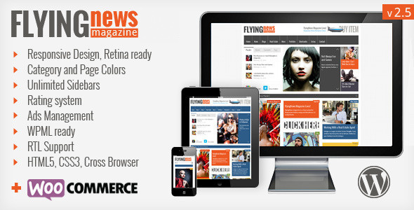 FlyingNews - Responsive Wordpress Magazine - Premium wordpress themes|Review