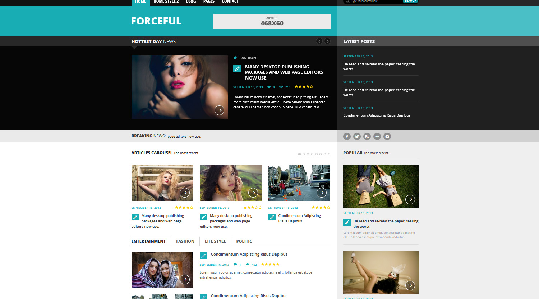 ForceFul- Stylish Magazine WordPress Theme - Magazine
