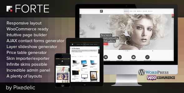 Forte multipurpose WP theme (eCommerce ready) - Ecommerce
