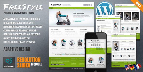 Freestyle Responsive Wordpress Theme - Creative|Premium wordpress themes