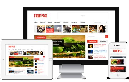FrontPage Wordpress Theme - Magazine|Ecommerce>WooCommerce