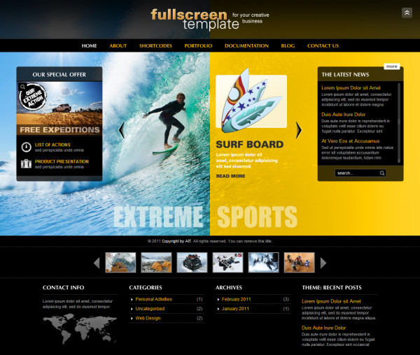 Fullscreen - Business & Portfolio Wordpress Theme - Premium wordpress themes|Sports