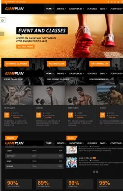 Gameplan - Event and Gym Fitness Wordpress Theme - Fitness|Premium wordpress themes