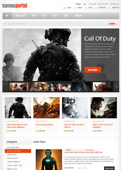 Games Portal WordPress Theme - Gaming