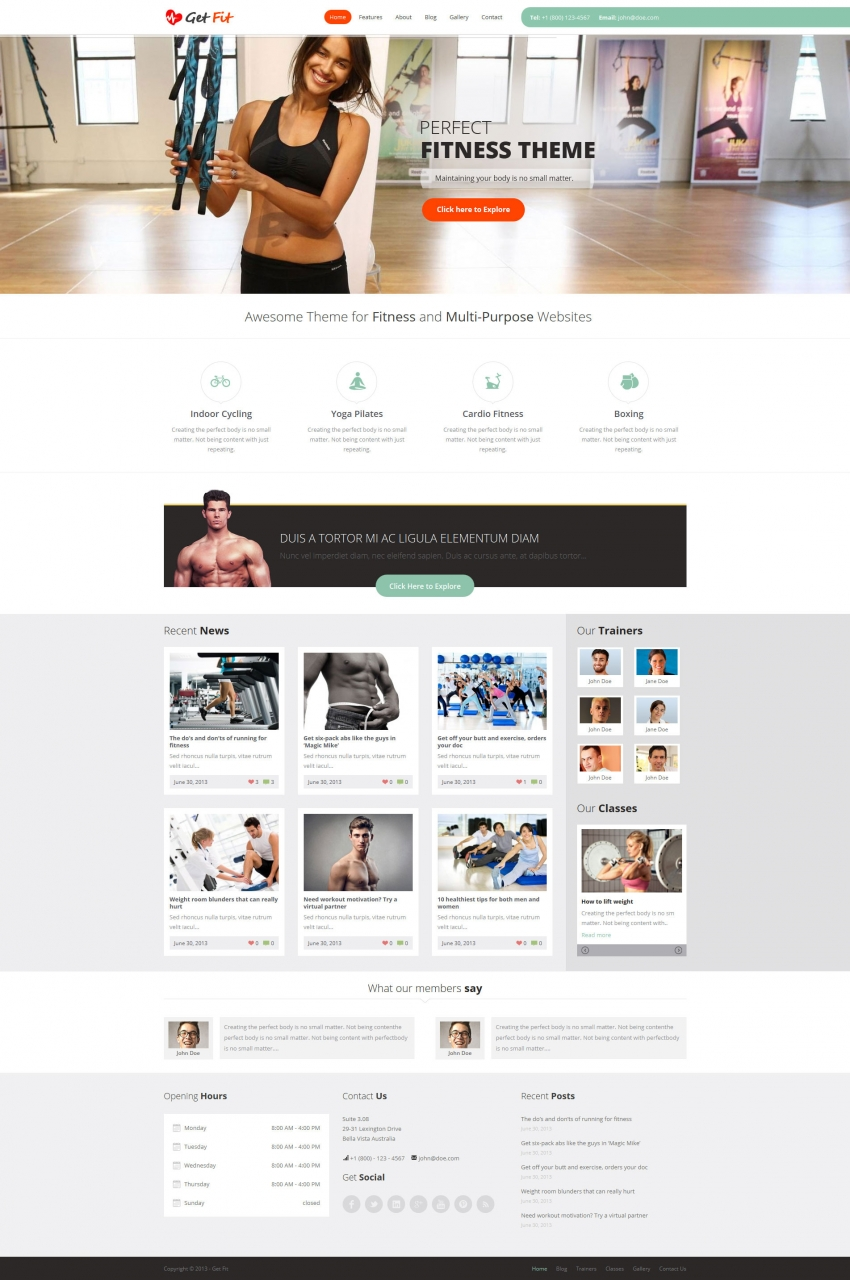18 Best Gym & Fitness WordPress Themes 2014 - Themes4WP