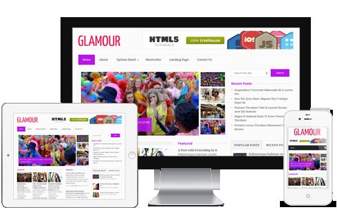 Glamour WordPress Theme - Magazine