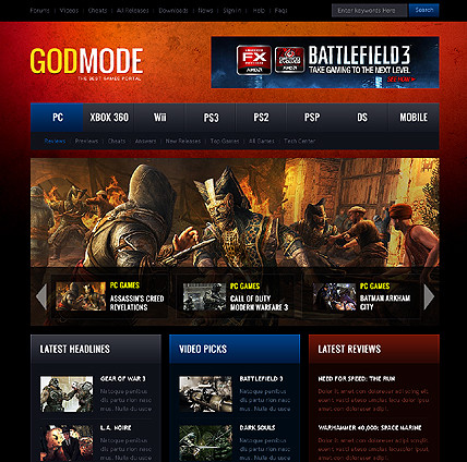 God mode battle mode 3 - Gaming WordPress Theme - Gaming