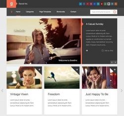 GoodInc Flat Responsive WordPress Blog