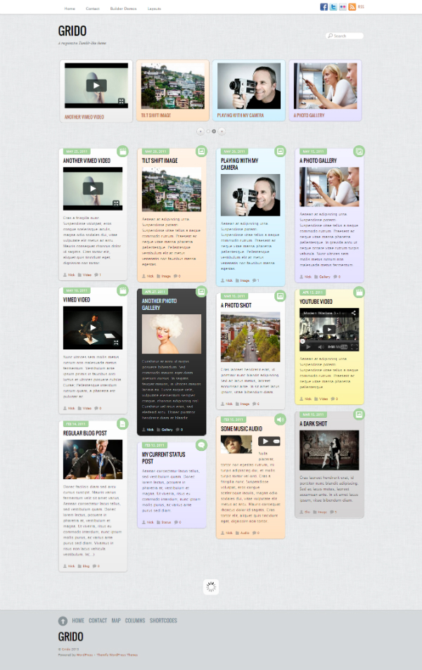 Grido WordPress Theme - Magazine|Tumblr-Style