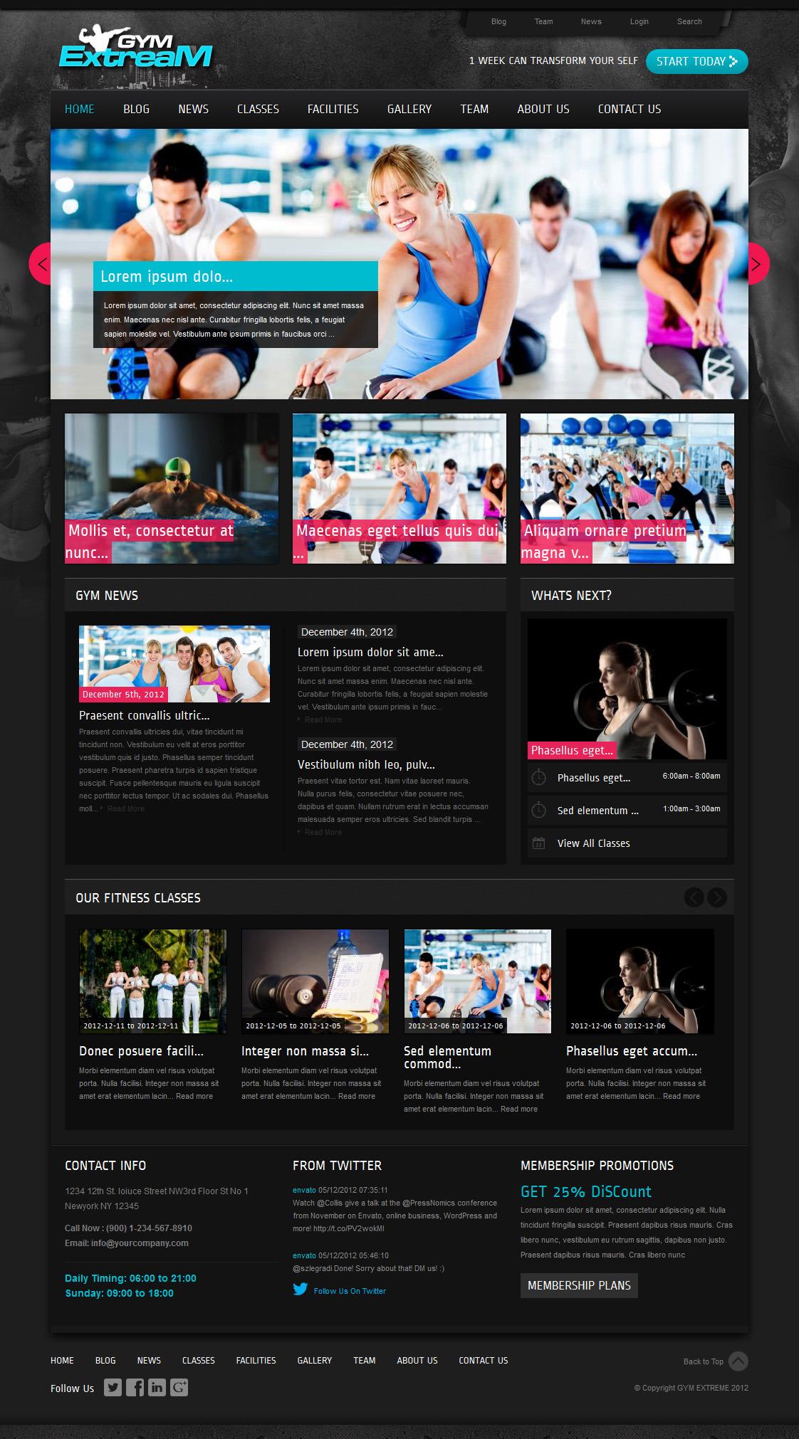 Gym Extream - Gym and Fitness Wordpress Theme - Fitness|Premium wordpress themes