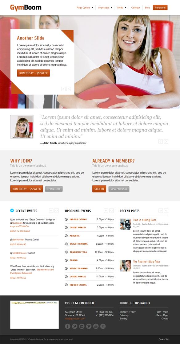 GymBoom - A Responsive Fitness Gym WordPress Theme - Fitness Premium wordpress themes
