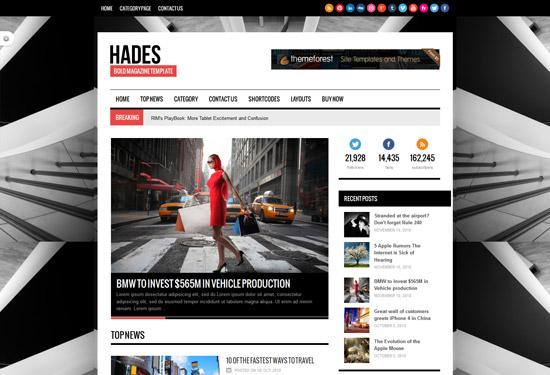 Hades Bold Magazine Newspaper Template - Magazine