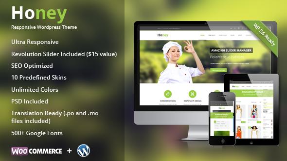 Honey | Responsive Multipurpose Theme - Ecommerce>WooCommerce