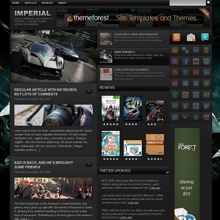 Imperial: Product Review Theme for WordPress - Gaming