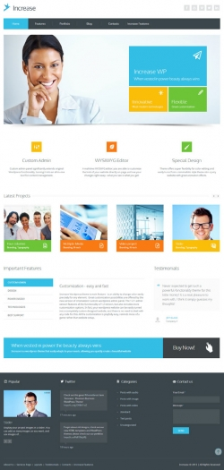 Increase - Premium Business WordPress Theme - Business|Metro-style