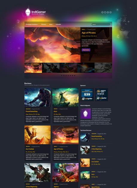 IndiGamer - Gaming Wordpress Theme - Gaming