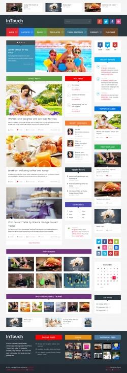 InTouch - Retina Responsive WordPress News Theme - Magazine|Metro-style