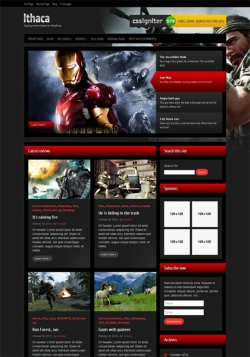 Ithaca - Gaming review WordPress Theme - Gaming