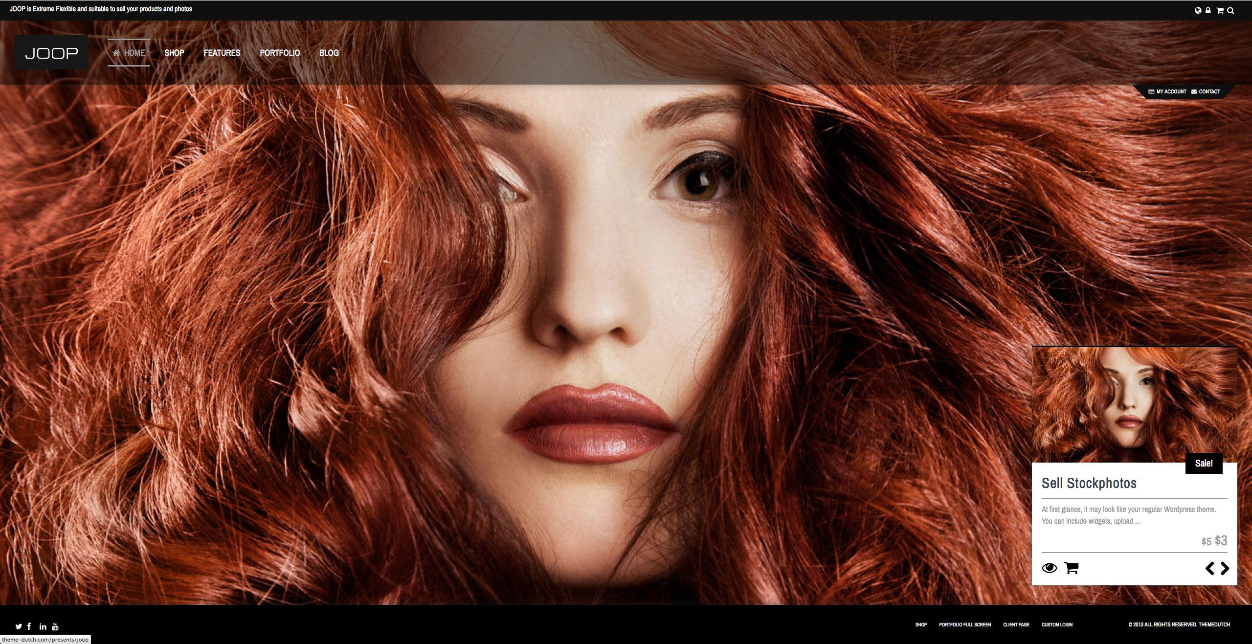 JOOP - Full Screen Woocommerce / Portfolio Theme - Portfolio|Ecommerce>WooCommerce