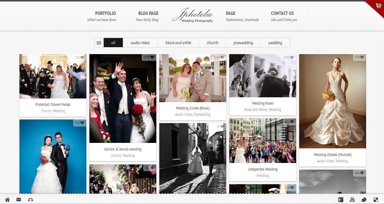 JPhotolio: Responsive Wedding Photography WP Theme - Photography|Wedding