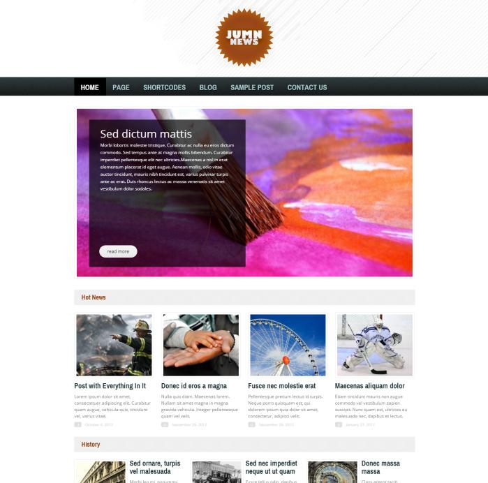 Jumn News Wordpress Theme - Magazine