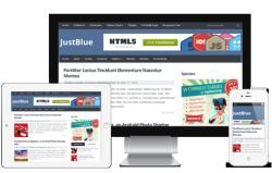 JustBlue Free WordPress Theme - Blog|Free wordpress themes