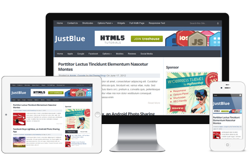JustBlue Free WordPress Theme - Blog|Free wordpress themes