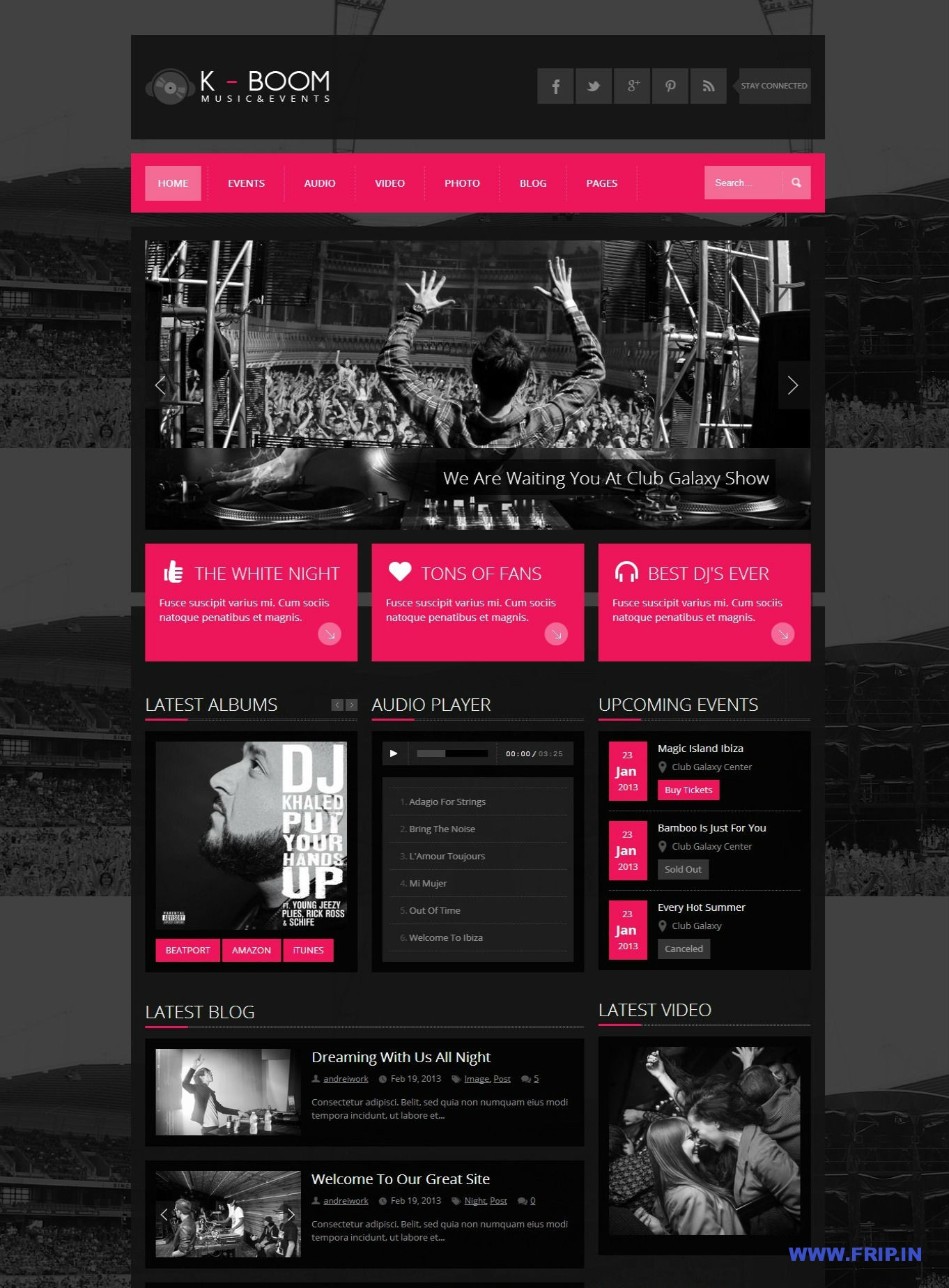K-BOOM - Events & Music Responsive WordPress Theme - Business|Metro-style