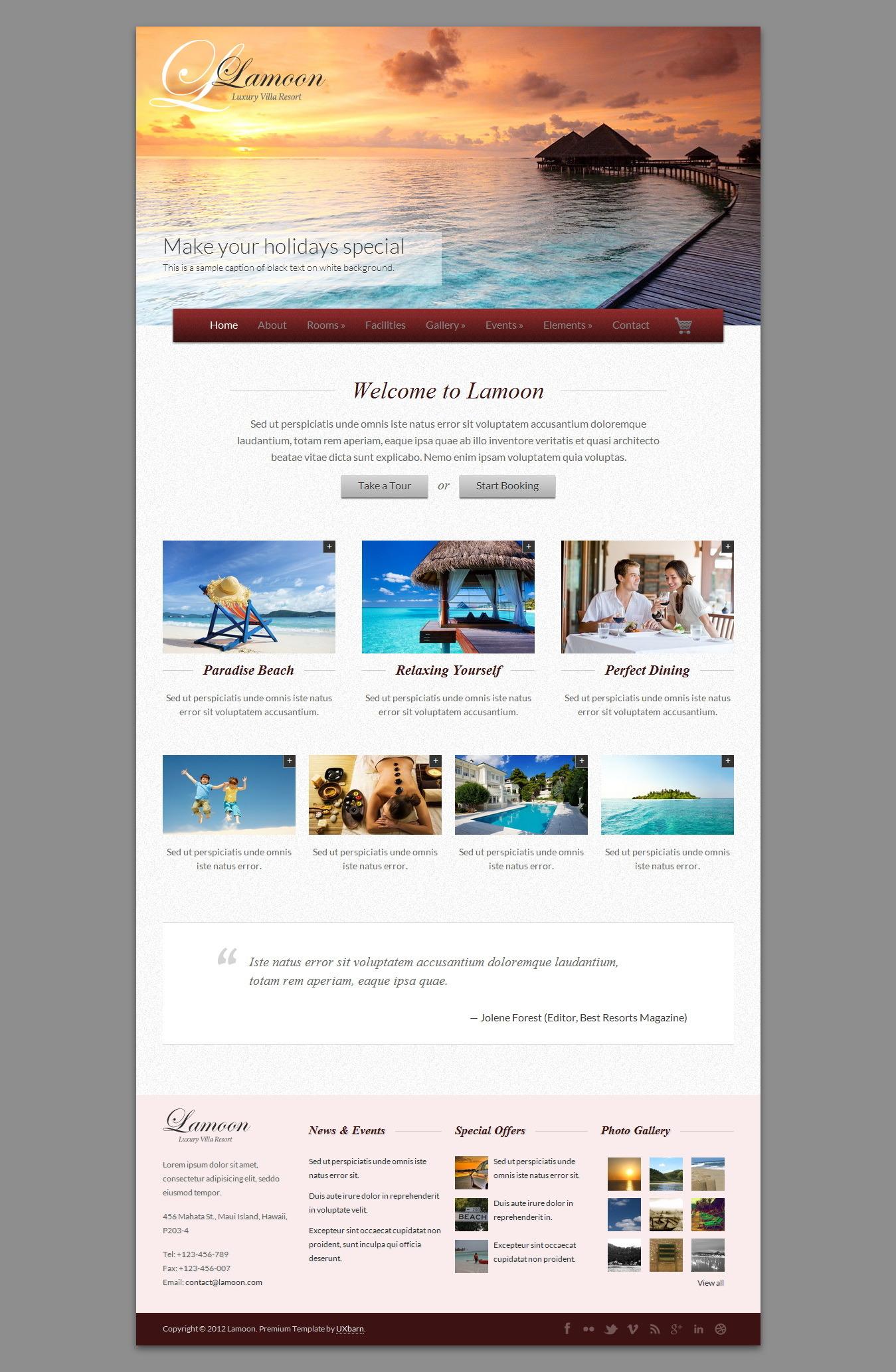Lamoon - Responsive WordPress Theme - Travel