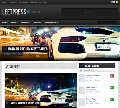 LeetPress - A Gaming WordPress Theme - Gaming