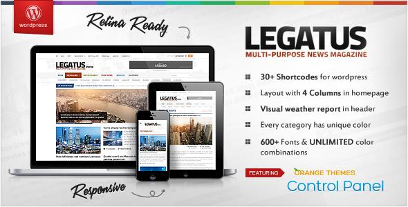Legatus - Responsive News/Magazine Wordpress Template - Premium wordpress themes