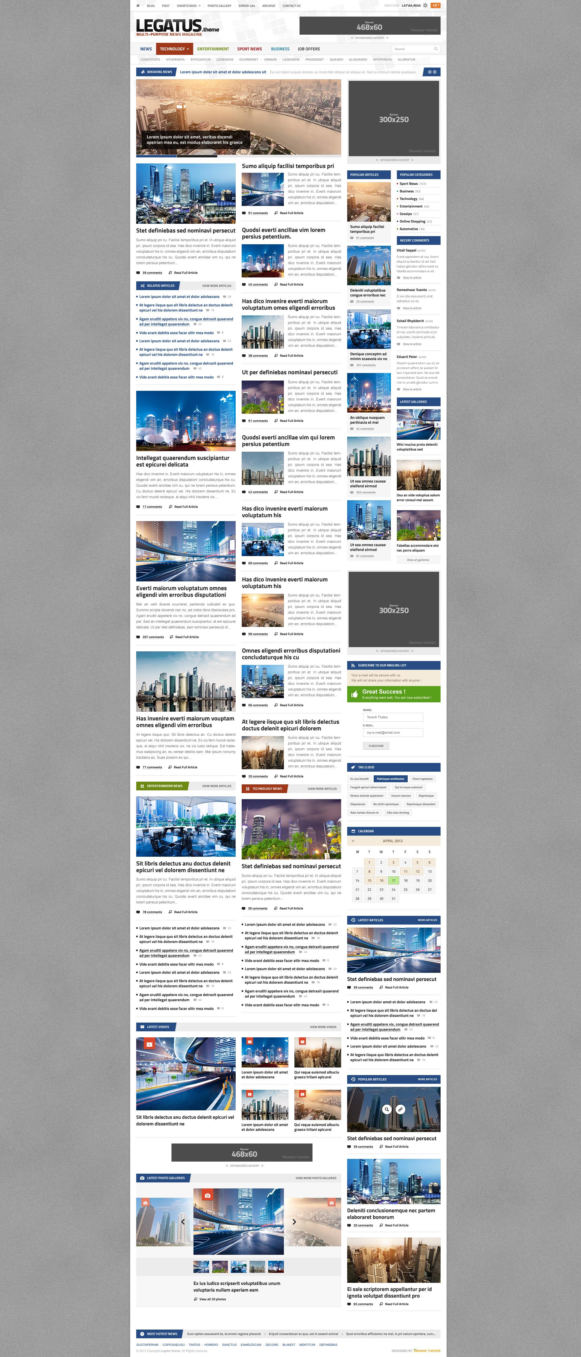 Legatus - Responsive News/Magazine Template - Magazine|Review