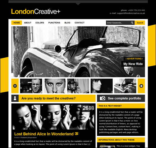 London Creative + (Portfolio & Blog WP Theme) - Creative|Magazine