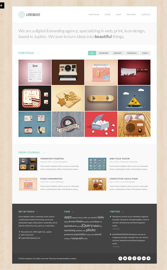 Longwave - Multipurpose Responsive WordPress Theme - Gallery|Photography|Portfolio