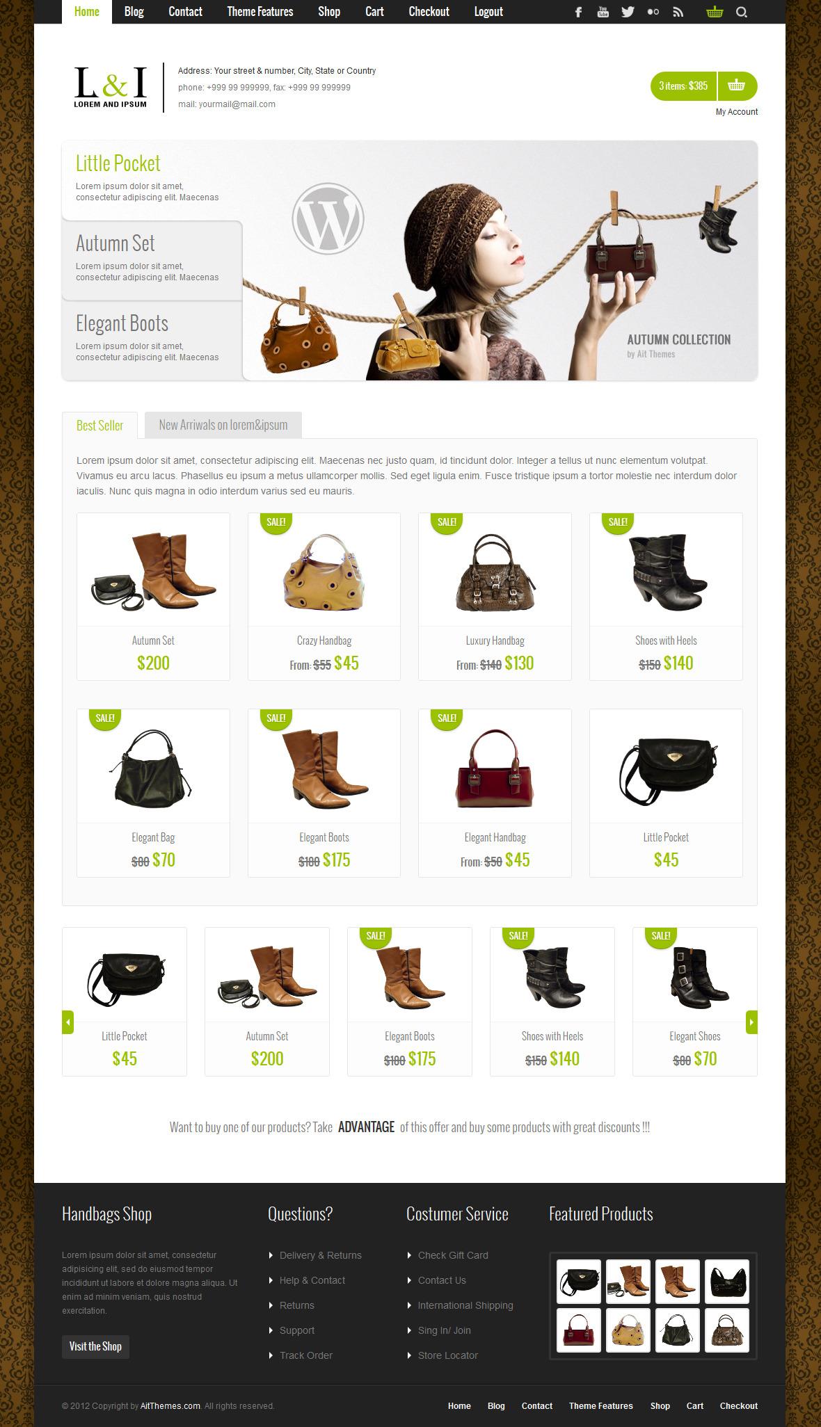 Lorem & Ipsum: Universal e-Commerce Theme - Ecommerce>WooCommerce