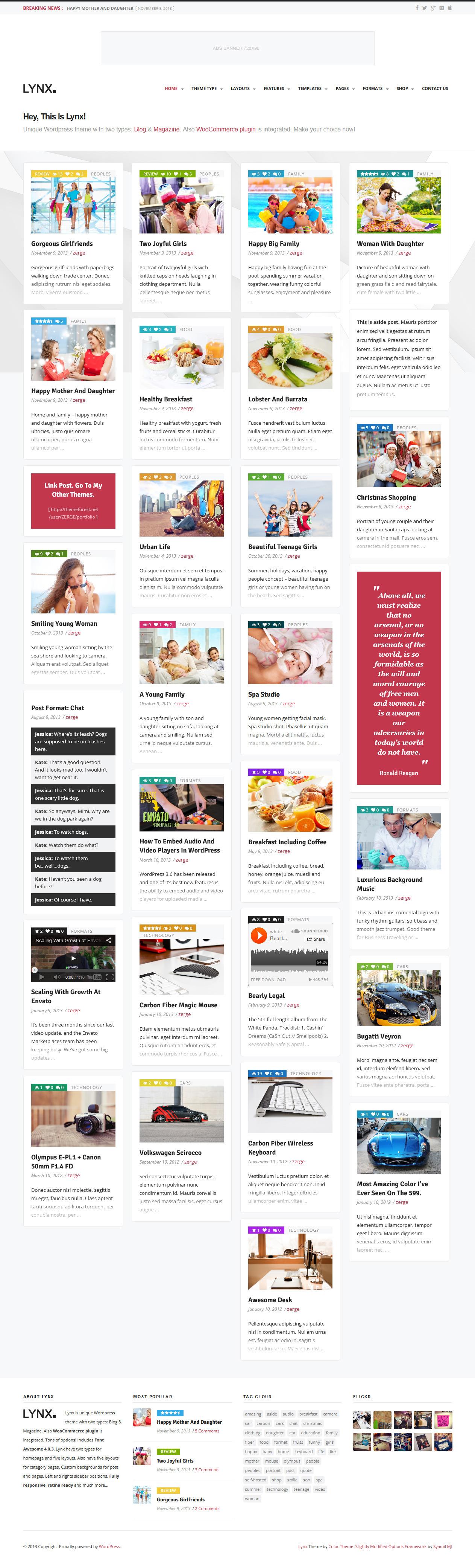 Lynx 3 in 1 - Retina Responsive Wordpress Theme - Magazine|Review|Ecommerce>WooCommerce