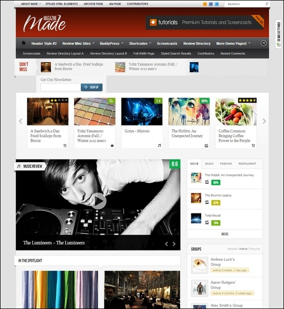 Made - Responsive Review/Magazine Theme - Gaming