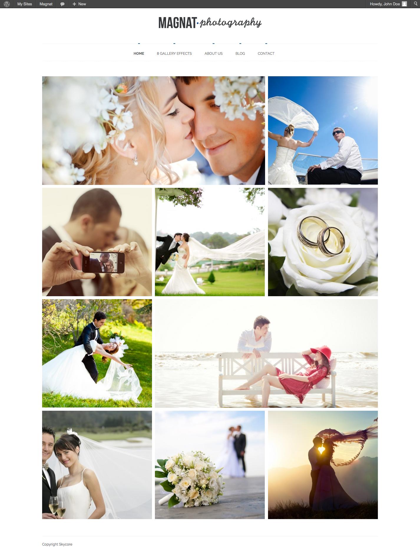 Magnat Photography WordPress Theme - Photography