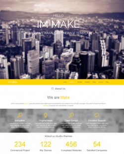 Make - Responsive Parallax Onepage Wordpress Theme - Business|Creative|OnePage