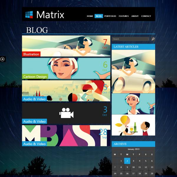 Matrix - Responsive WordPress Theme - Business|Creative|Metro-style