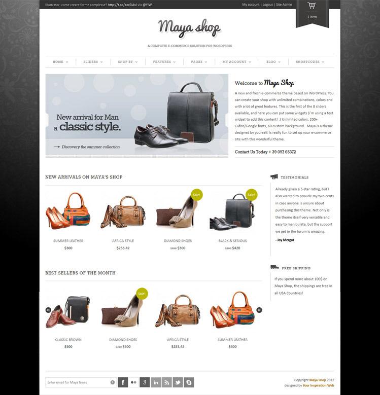 MayaShop - A Flexible Responsive e-Commerce Theme - Ecommerce>WooCommerce