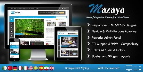 Mazaya Responsive WordPress News