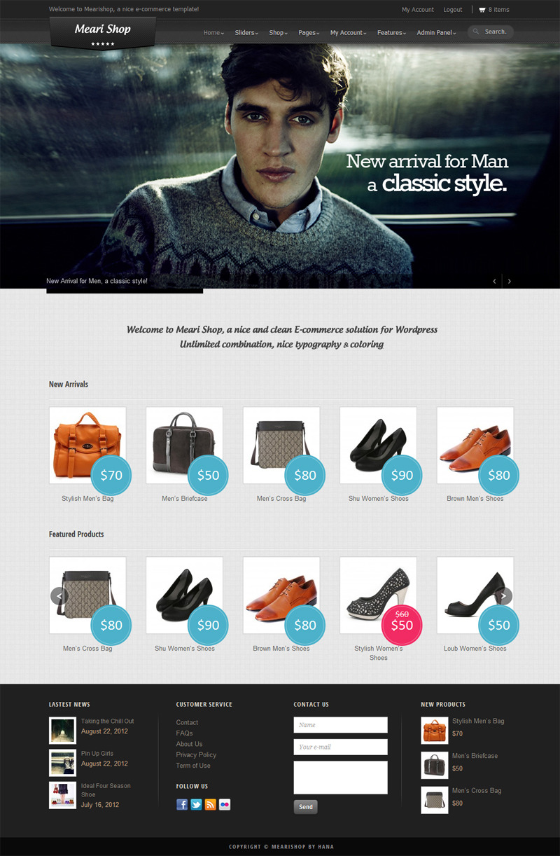 Mearishop - a Clean Responsive E-commerce Theme - Ecommerce>WooCommerce