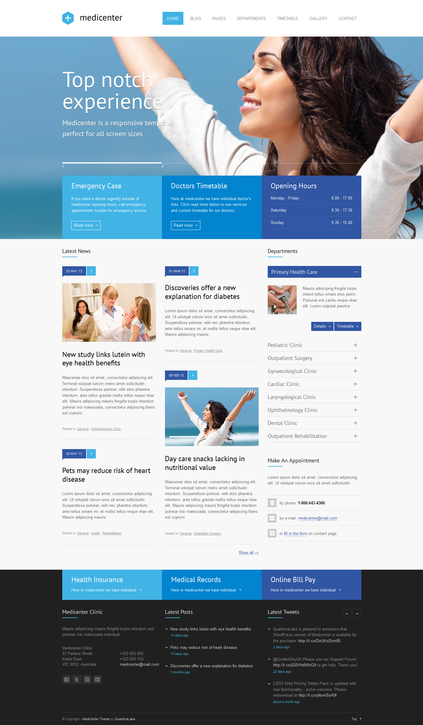 MediCenter - Responsive Medical WordPress Theme - Business