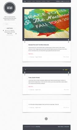 Memo: Tumblog Style WordPress Theme - Magazine|Tumblr-Style