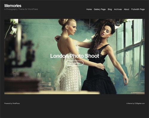 Memories Photography WordPress Theme - Photography
