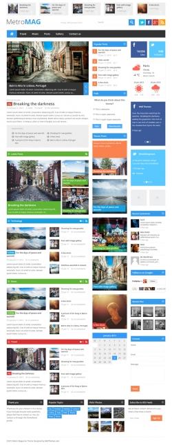 Metro Magazine Responsive WordPress Theme - Metro-style