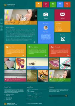 Metro Rox WordPress Theme - Creative|Metro-style