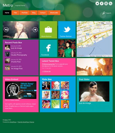 Metro WordPress Theme - Metro-style